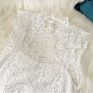 NWT Intimately FP High Neck Open Back Lace Mini